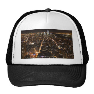 Lower Manhattan AT night from the Empire Trucker Hat