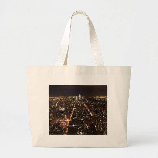 Lower Manhattan AT night from the Empire Canvas Bags