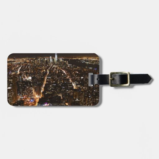 Lower Manhattan AT night from the Empire Tag For Luggage