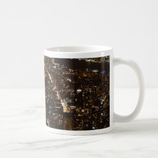 Lower Manhattan AT night from the Empire Coffee Mugs