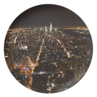 Lower Manhattan AT night from the Empire Party Plate