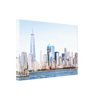 Lower Manhattan Color Sketch Canvas Print