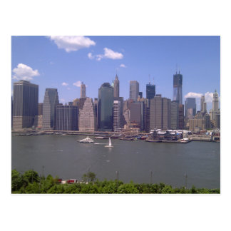 Lower Manhattan hardly a cloud in the sky Postcard