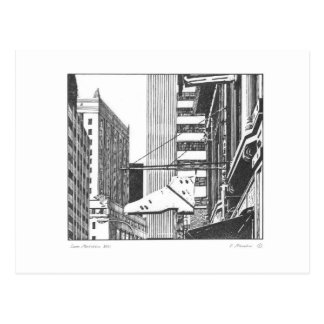 Lower Manhattan NYC Postcard