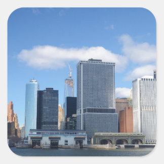 Lower Manhattan Skyline Square Sticker
