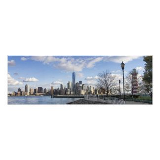 Lower Manhattan Skyline with Lighthouse Art Photo