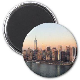 Lower Manhattan Sunset WTC Freedom Tower NYC 6 Cm Round Magnet