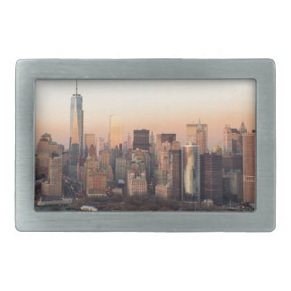 Lower Manhattan Sunset WTC Freedom Tower NYC Belt Buckle