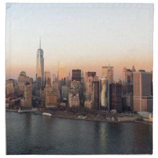 Lower Manhattan Sunset WTC Freedom Tower NYC Napkin
