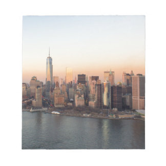 Lower Manhattan Sunset WTC Freedom Tower NYC Notepad