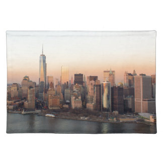Lower Manhattan Sunset WTC Freedom Tower NYC Placemat