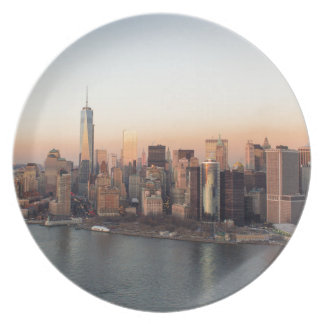 Lower Manhattan Sunset WTC Freedom Tower NYC Plate