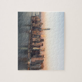Lower Manhattan Sunset WTC Freedom Tower NYC Puzzle