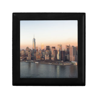 Lower Manhattan Sunset WTC Freedom Tower NYC Small Square Gift Box