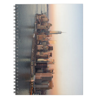 Lower Manhattan Sunset WTC Freedom Tower NYC Spiral Note Book