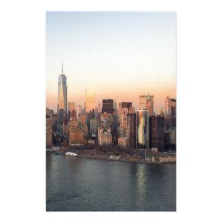 Lower Manhattan Sunset WTC Freedom Tower NYC Stationery