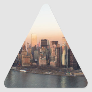 Lower Manhattan Sunset WTC Freedom Tower NYC Triangle Sticker