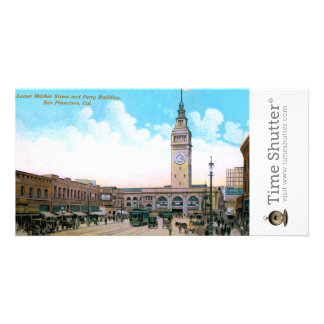 Lower Market Street and Ferry Building Picture Card