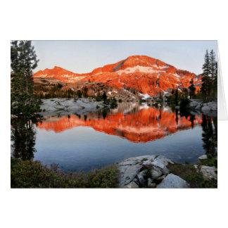 Lower Ottoway Lake Sunset - Yosemite Card