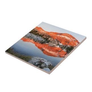 Lower Ottoway Lake Sunset - Yosemite Ceramic Tile