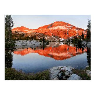 Lower Ottoway Lake Sunset - Yosemite Postcard