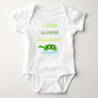 Lower Slower Delaware Baby Bodysuit