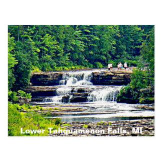 Lower Tahquamenon Falls & People, Michigan Postcard