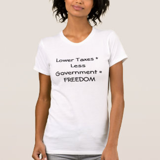 Lower taxes ladies t t-shirt