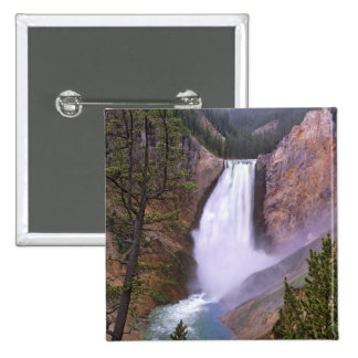 Lower Yellowstone Falls, Grand Canyon of 15 Cm Square Badge