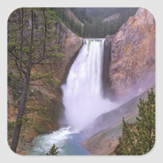Lower Yellowstone Falls, Grand Canyon of Square Sticker
