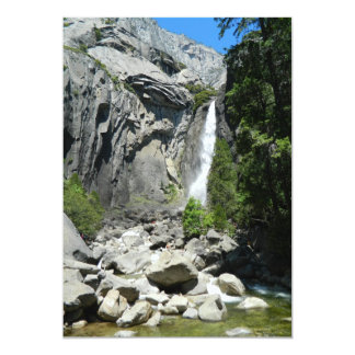 Lower Yosemite Falls 13 Cm X 18 Cm Invitation Card