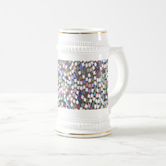 LOWEST PRICE Confetti Sparkle Template + IMG Text Beer Stein