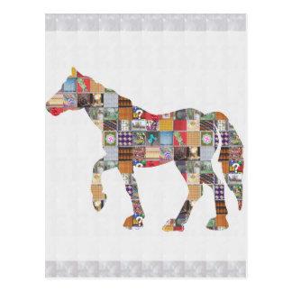 LOWprice GrandSIZE Card HORSE Collage Art NVN482 Postcard