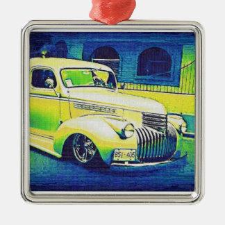 Lowrider Vintage Automobile Metal Ornament