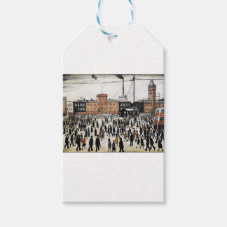 lowry going to work design gift tags