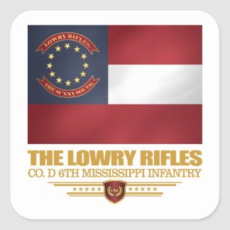 Lowry Rifles Square Sticker