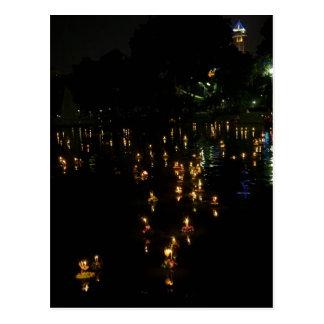 Loy Krathong Bangkok Lumpini Park Postcard