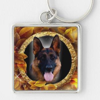 Loyal German Shepherd Key Ring