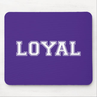 LOYAL in Team Colors Purple and Orange  Mouse Pad