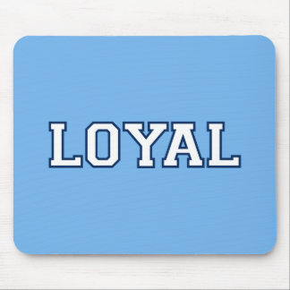 LOYAL in Team Colors Sky Blue and Navy Blue  Mouse Pad