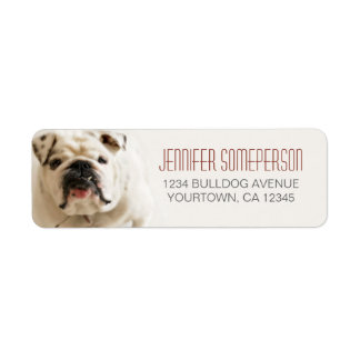 Loyal White Bulldog Return Address Labels
