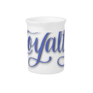 LOYALTY CALLIGRAPHY PITCHER