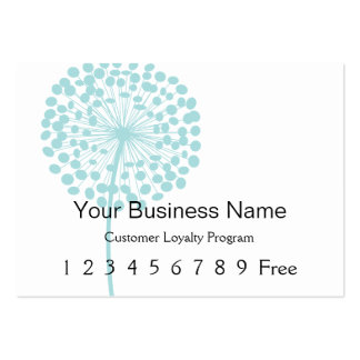Loyalty Card :: Blue Dandelion Pack Of Chubby Business Cards