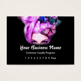 Loyalty Card :: Purple Hair Butterfly Lady