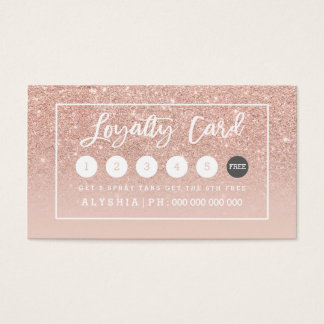 Loyalty card rose gold typography