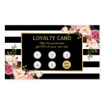 Loyalty Card Vintage Gold Floral Beauty Salon Pack Of Standard Business Cards