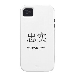 """""""Loyalty"""" Chinese symbol design Apple product case iPhone 4 Case"""
