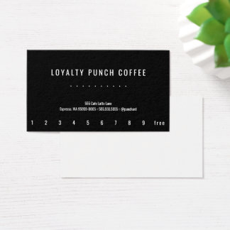 Loyalty Coffee Oswald Punch-Card Business Card