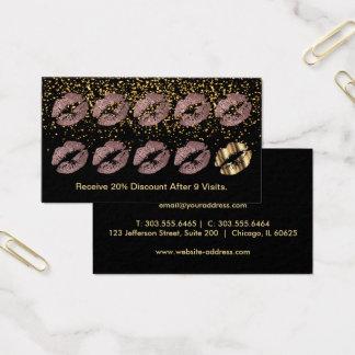 Loyalty Punch Card - Dusty Rose Glitter