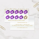 Loyalty Punch Card - Purple Glitter and Gold 2